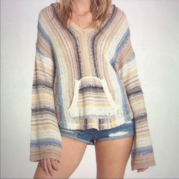 f012b6b74b Billabong Tops | Nwt Baja Beach Sweater Hoodie Top | Poshmark